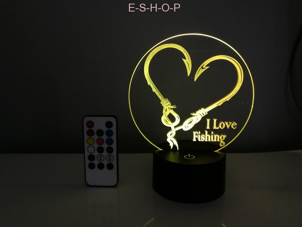 Led lampička i love fishing 14cm