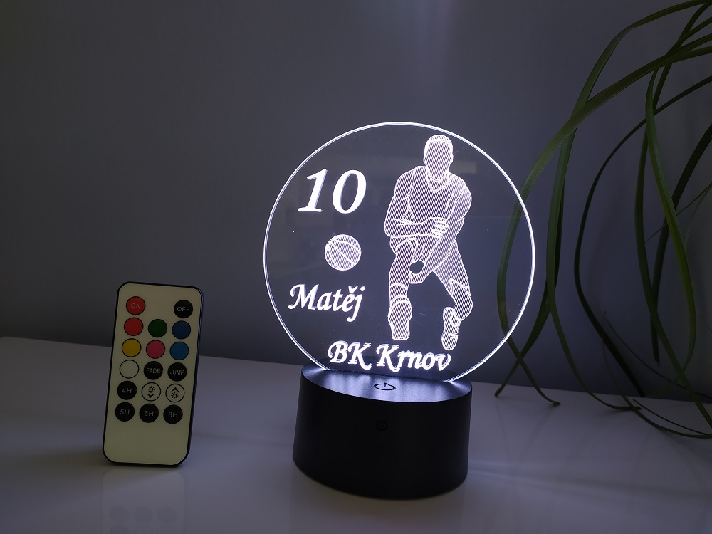 Led lampička basketbalista 3